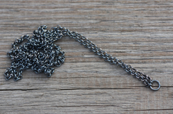 Long necklace Ag 925/1000 patina