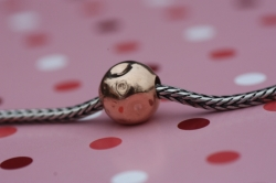 Bead Rose moon Ag 925/1000 rose gold plated